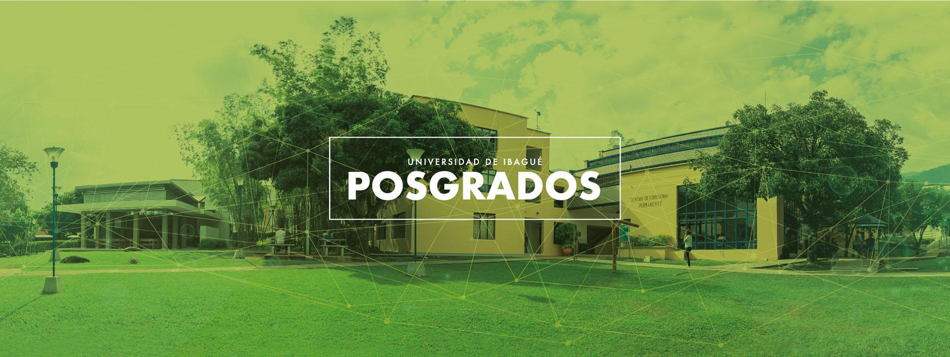 Imagen de cabecera para el micrositio de posgrados de Unibagué